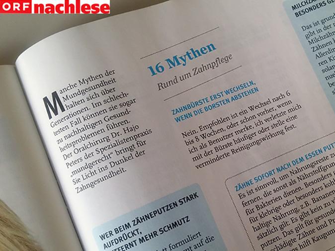 """""""Zahnweisheiten"""". mundgerecht in der ORF Nachlese"""