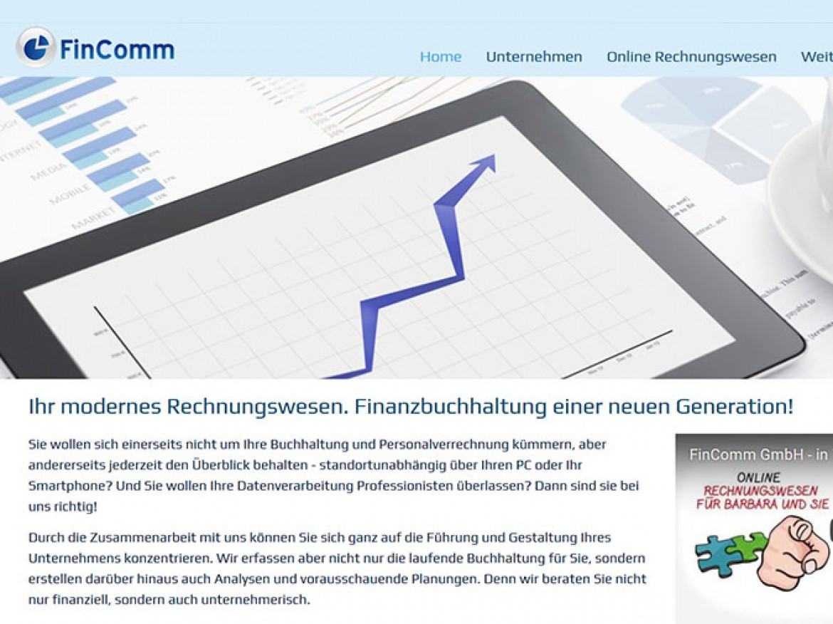 FinComm in neuen Kleidern: Website Relaunch