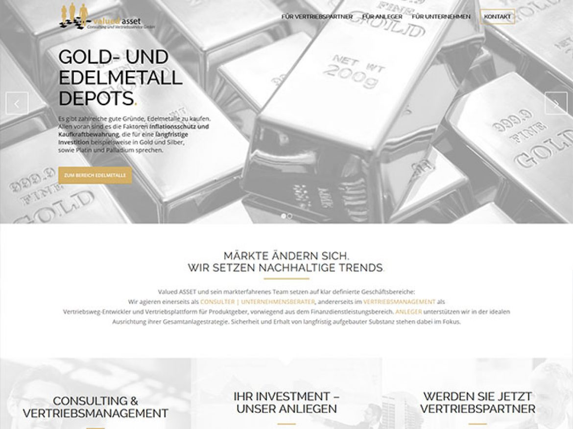 Valued Asset: die rundumerneuerte, state of the art Website ist online