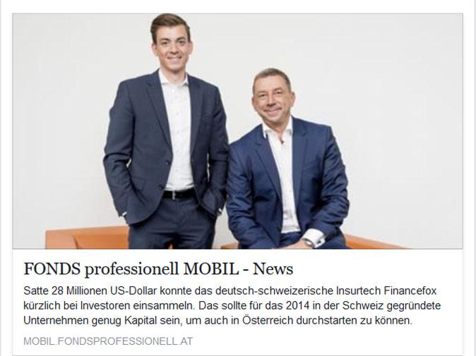 FinanceFox Geschäftsführer im Gespräch mit Fonds Professionell